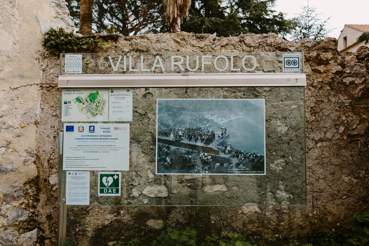 ravello villa rufolo wedding photographer